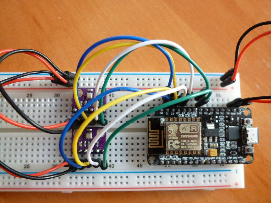 ESP8266 with two BME280s Above