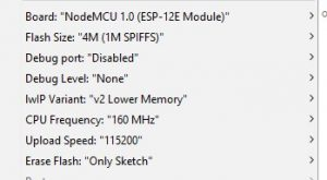 NodeMCU IDE Settings
