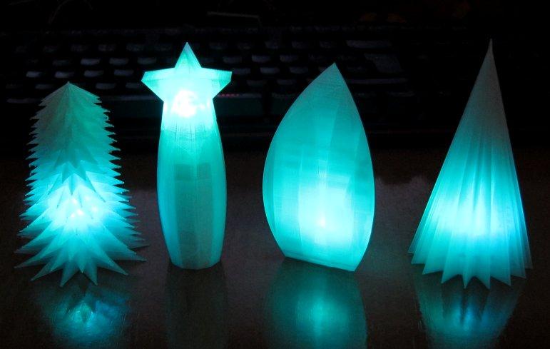 Christmas Tree 3d Print LEDs
