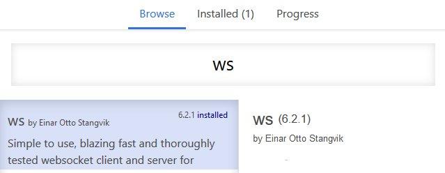 Websocket Client Install